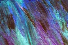 Hintergrund in den Neonfarben Acrylbürstenanschläge stockbild