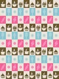 Hintergrund in den Quadraten mit Bonbons Lizenzfreies Stockbild
