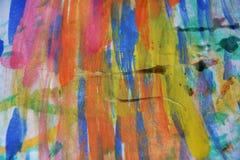 Hintergrund in den spielerischen Farben des Aquarells Stockfotografie
