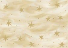 Hintergrund in den verschiedenen Schatten des Goldes mit den Sternen gemalt Lizenzfreie Stockfotografie