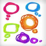 Hintergrund der abstrakten Ideengekritzelluftblasen. Stockbilder