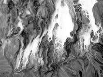Hintergrund der abstrakten Kunst Ölgemälde auf Segeltuch Fragment der Grafik Stellen der Ölfarbe Pinselstriche der Farbe Moderne  Lizenzfreie Stockfotografie