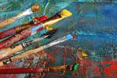 Hintergrund der abstrakten Kunst Handgemalter Hintergrund Lizenzfreies Stockbild