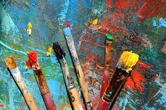 Hintergrund der abstrakten Kunst Handgemalter Hintergrund Lizenzfreies Stockfoto