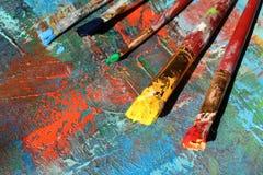 Hintergrund der abstrakten Kunst Handgemalter Hintergrund Stockfotos