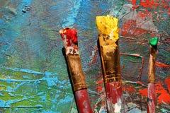 Hintergrund der abstrakten Kunst Handgemalter Hintergrund Lizenzfreie Stockfotos