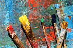 Hintergrund der abstrakten Kunst Handgemalter Hintergrund Stockfoto