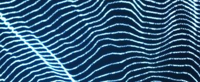 Hintergrund der abstrakten Wissenschaft oder der Technologie Grafische Auslegung Netzillustration mit Partikel Lizenzfreie Stockbilder