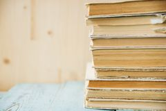 Hintergrund der alten Bücher /Old-Bücher Stockfoto