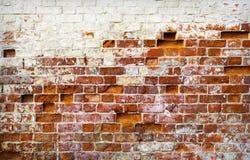 Hintergrund der alten Backsteinmauer Lizenzfreies Stockbild