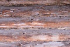 Hintergrund der alten Blockhauswand Lizenzfreie Stockbilder