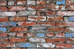 Hintergrund der alten Wand-Musterbeschaffenheit des roten Backsteins Stockfotografie