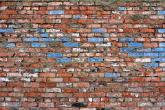 Hintergrund der alten Wand-Musterbeschaffenheit des roten Backsteins Stockfotos