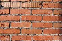 Hintergrund der alten Wand-Musterbeschaffenheit des roten Backsteins Stockfoto