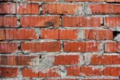 Hintergrund der alten Wand-Musterbeschaffenheit des roten Backsteins Stockbilder