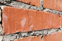 Hintergrund der alten Wand-Musterbeschaffenheit des roten Backsteins Stockbild