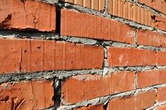 Hintergrund der alten Wand-Musterbeschaffenheit des roten Backsteins Lizenzfreies Stockbild