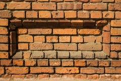 Hintergrund der alten Weinlesebacksteinmauer Stockfotografie