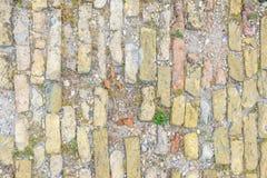 Hintergrund der alten Ziegelsteinbodenbeschaffenheit Lizenzfreies Stockbild