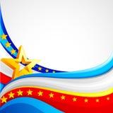 Hintergrund der amerikanischen Flagge Lizenzfreie Stockfotografie