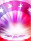 Hintergrund der amerikanischen Flagge Stockfotografie