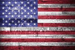 Hintergrund der amerikanischen Flagge Stockbilder