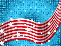 Hintergrund der amerikanischen Flagge bedeutet Nation und funkelnde Quadrate Lizenzfreie Stockbilder