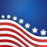 Hintergrund der amerikanischen Flagge, Illustration Lizenzfreie Stockbilder
