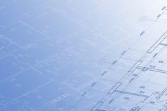 Hintergrund der Architekturzeichnung Lizenzfreie Stockfotos