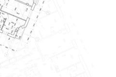 Hintergrund der Architekturzeichnung Stockfotografie