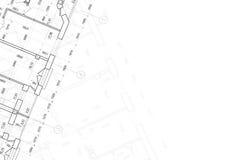 Hintergrund der Architekturzeichnung Lizenzfreie Stockbilder