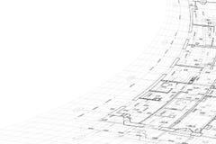 Hintergrund der Architekturzeichnung Lizenzfreies Stockfoto