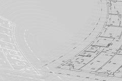 Hintergrund der Architekturzeichnung Stockbild