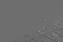 Hintergrund der Architekturzeichnung Stockbilder