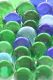 Hintergrund der aufbereiteten Glasspielzeug-Marmore Lizenzfreies Stockfoto