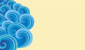 Hintergrund der aufwändigen dekorativen Spiralen Stockfoto