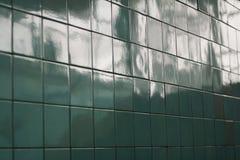Hintergrund der azurblauen Fliese, Hintergrund Stockbild