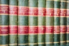 Hintergrund der Bücher in Folge Stapel alte Bücher Stockfotografie