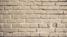 Hintergrund der beige Backsteinmauer 4k stock video