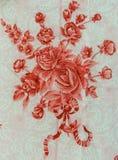 Hintergrund der Beschaffenheit des Druckgewebes streifte Blumen lizenzfreie stockfotos
