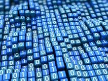 Hintergrund der binären Daten stock abbildung