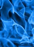Hintergrund der blauen Flamme Stockfotografie