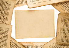 Hintergrund der Buchseiten Lizenzfreie Stockfotos