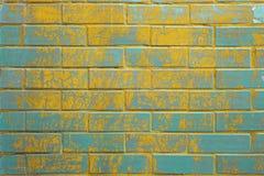 Hintergrund der bunten Backsteinmauerbeschaffenheit Lizenzfreie Stockbilder