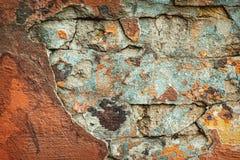 Hintergrund der bunten Backsteinmauerbeschaffenheit maurerarbeit Lizenzfreies Stockbild