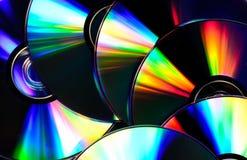 Hintergrund der CDscheiben lizenzfreies stockbild