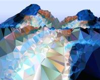 Hintergrund, der die Weise zu den Bergen zeigt stock abbildung