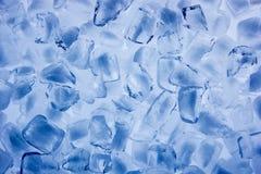 Hintergrund der Eiswürfel schließen oben Lizenzfreies Stockfoto