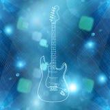 Hintergrund der elektrischen Gitarre Stockfotos