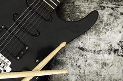 Hintergrund der elektrischen Gitarre Lizenzfreie Stockfotos